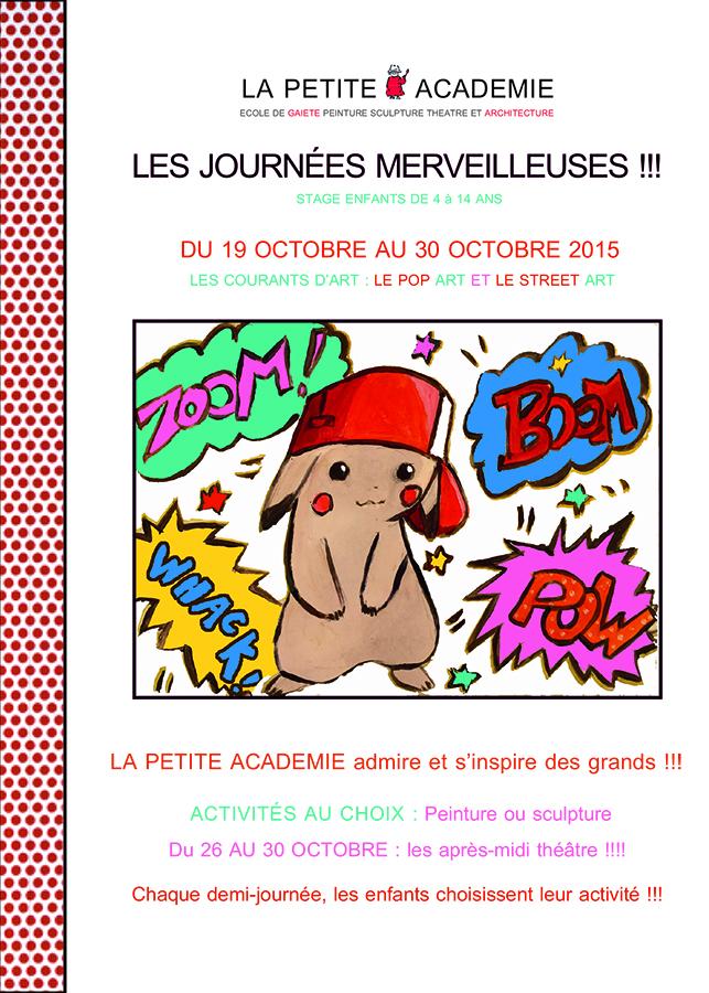LA PETITE ACADEMIE Lyon 6 Stage toussaint 2015