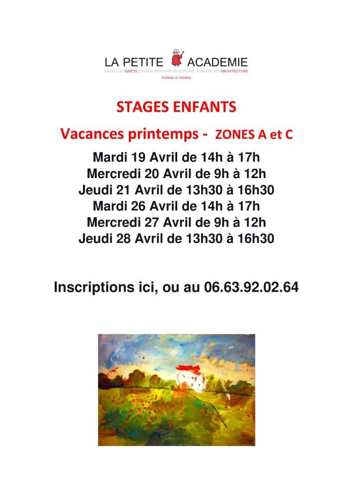 Stages enfants Peinture Sculpture Avignon La Petite Académie