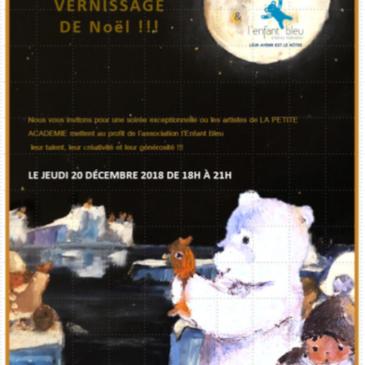 Paris 17 : VERNISSAGE L'ENFANT BLEU JEUDI 20 DÉCEMBRE 2018